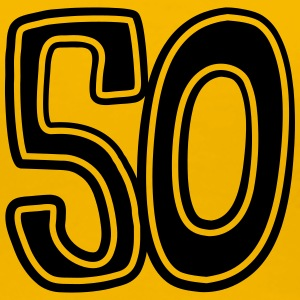 Number 50 fifty comic round birthday old T-Shirts - Women's Premium T-Shirt