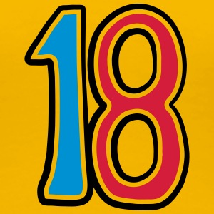 Number 18 eighteen birthday adult comic T-Shirts - Women's Premium T-Shirt