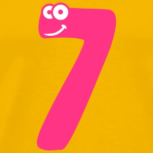 Number 7 seven comic cartoon funny face T-Shirts - Men's Premium T-Shirt