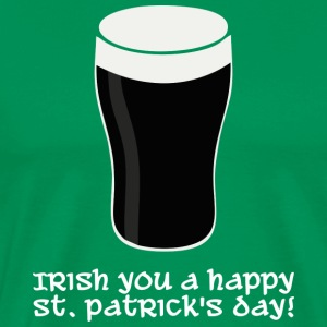 Irish you a happy St Patrick's day (dark) Tee shirts - T-shirt Premium Homme