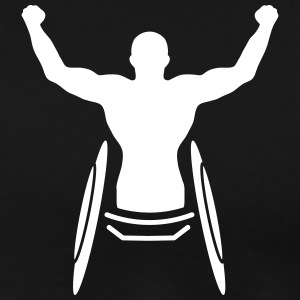 An athlete in a wheelchair  T-Shirts - Men's Premium T-Shirt