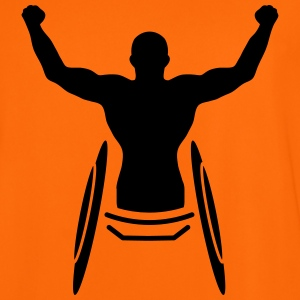 An athlete in a wheelchair  T-Shirts - Men's Football Jersey