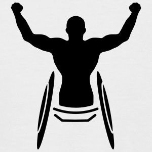 An athlete in a wheelchair  T-Shirts - Men's Baseball T-Shirt