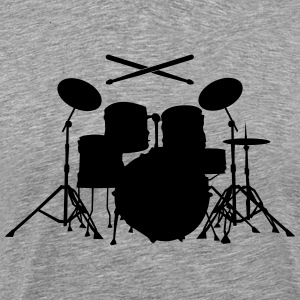Drums with sticks  T-Shirts - Men's Premium T-Shirt