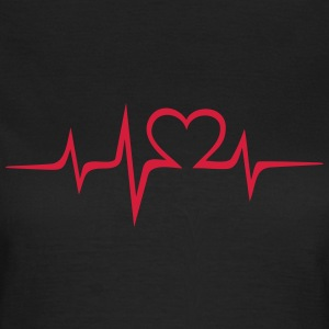 Heart rate music Dub Techno House Dance Electro T-shirts - Vrouwen T-shirt