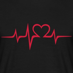 Heart rate music Dub Techno House Dance Electro T-skjorter - T-skjorte for menn