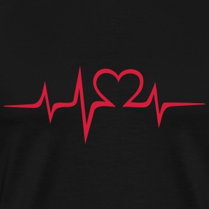 Heart rate music Dub Techno House Dance Electro T-shirts - Mannen Premium T-shirt