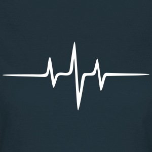 Music Heart rate Dub Techno House Dance Electro Tee shirts - T-shirt Femme