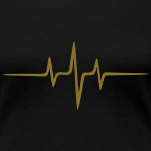 Music Heart rate Dub Techno House Dance Electro Tee shirts - T-shirt Premium Femme