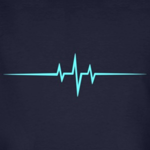 Music Heart rate Dub Techno House Dance Trance Camisetas - Camiseta ecológica hombre