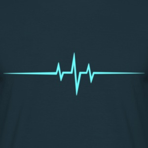 Music Heart rate Dub Techno House Dance Trance Tee shirts - T-shirt Homme