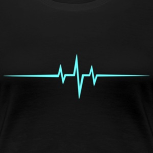 Music Heart rate Dub Techno House Dance Trance T-shirts - Premium-T-shirt dam