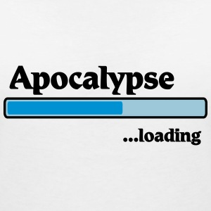 Apocalypse loading T-Shirts - Women's V-Neck T-Shirt