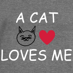 A Cat Loves Me Hoodies & Sweatshirts - Women's Boat Neck Long Sleeve Top