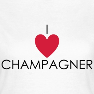 I Love Champagner T-shirts - Dame-T-shirt