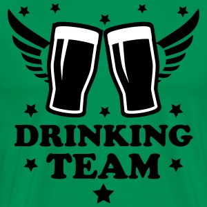 Drinking team member 2c Bier Beer Alkohol Party 3c - Männer Premium T-Shirt