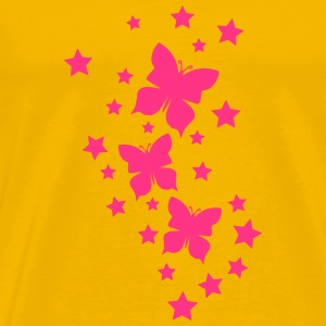 Beautiful Butterfly star pattern T-Shirts - Men's Premium T-Shirt