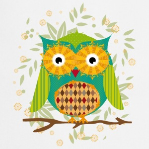 Owl sitting on a branch   Aprons - Cooking Apron