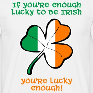 Lucky enough to be Irish t-shirt - Men's T-Shirt