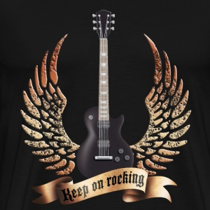 guitars_and_wings_032014_d T-Shirts - Männer Premium T-Shirt