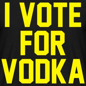 I Vote For Vodka T-shirts - T-shirt herr