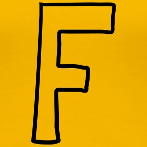 Letter F comic cartoon T-Shirts - Women's Premium T-Shirt