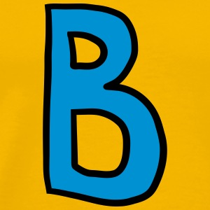 Letter B comic cartoon T-Shirts - Men's Premium T-Shirt