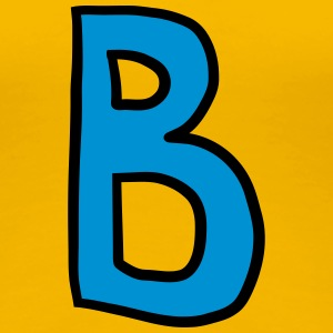 Letter B comic cartoon T-Shirts - Women's Premium T-Shirt