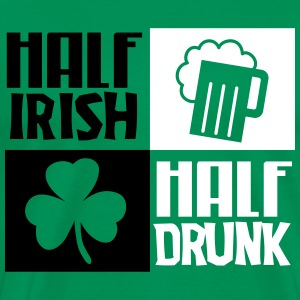 St. Patrick's day: Half irish, half drunk T-Shirts - Men's Premium T-Shirt