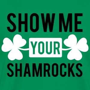St. Patrick's day: Show me your shamrocks T-shirts - Herre premium T-shirt