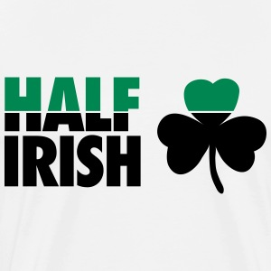 St. Patrick's day: Half irish T-shirts - Herre premium T-shirt
