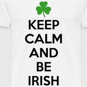 St. Patrick's day: Keep calm and be irish T-skjorter - Premium T-skjorte for menn