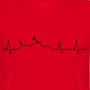 Motorcycle Chopper heartbeat  T-Shirts - Men's T-Shirt