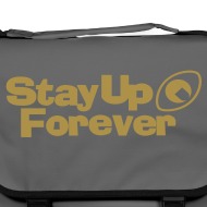 Design ~ Stay Up Forever shoulder bag with metallic gold print