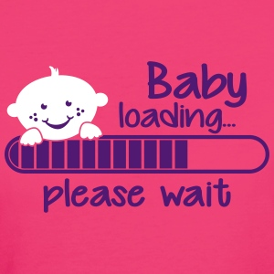 Baby loading... please wait T-Shirts - Frauen Bio-T-Shirt