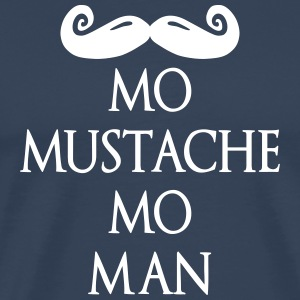 more mustache more man deluxe T-shirts - Herre premium T-shirt