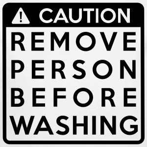 Caution: Remove person before washing (1 color) - Baby Bio-Langarm-Body