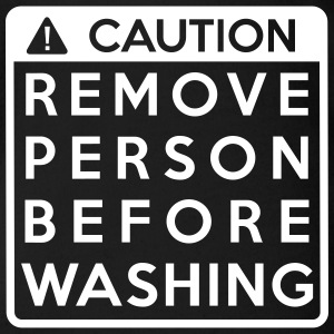 Caution: Remove person before washing (1 color) - Baby Bio-Kurzarm-Body