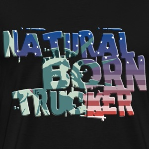 usa_natural_born_trucker_032014 T-Shirts - Männer Premium T-Shirt