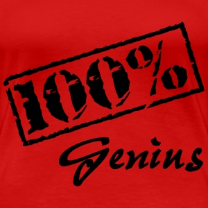 100 percent Genius T-Shirts - Frauen Premium T-Shirt