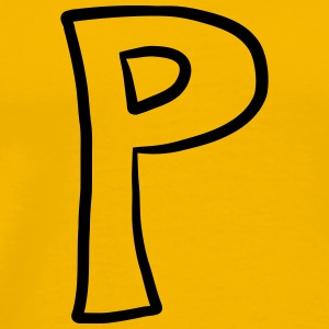 Letter P comic cartoon T-Shirts - Men's Premium T-Shirt