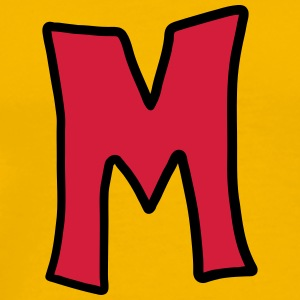 Letter M comic cartoon T-Shirts - Men's Premium T-Shirt