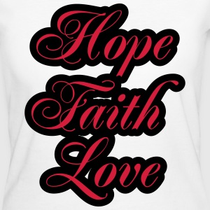 Hope, Faith, Love T-Shirts - Women's Organic T-shirt