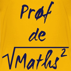 Prof de maths Skjorter - Premium T-skjorte for barn