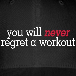 you will never regret a workout 2c Czapki  - Czapka z daszkiem flexfit