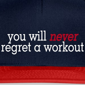 you will never regret a workout 2c Casquettes et bonnets - Casquette snapback