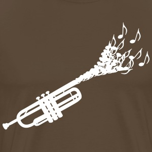 Trumpet sheet music  T-Shirts - Men's Premium T-Shirt