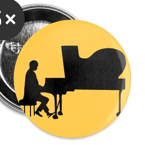 pianist Buttons & merkelapper - Liten pin 25 mm