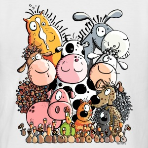 funny farm animals T-Shirts - Men's Baseball T-Shirt
