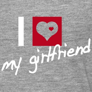 i love my girlfriend Shirts met lange mouwen - Mannen Premium shirt met lange mouwen